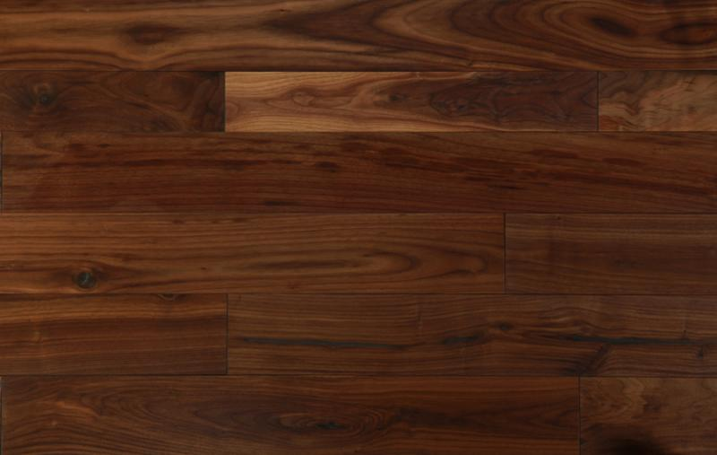 Oil finished walnut flooring ditton wood for Planche de bois noir